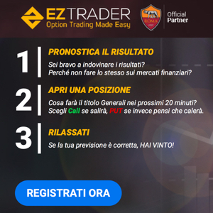 ez trader partnership con AS ROMA